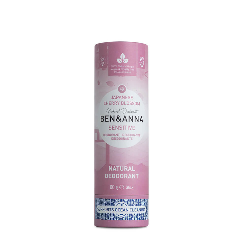 Desodorante natural SENSITIVE sin plástico Japanes Cherry Blossom