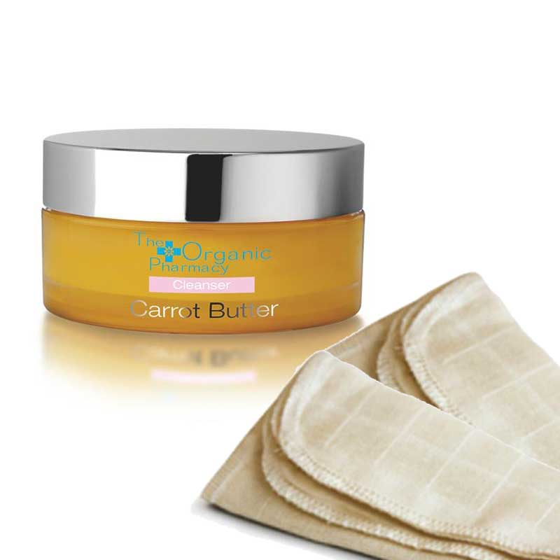 Limpieza facial exquisita Pack: Limpiador Carrot Butter + 2 Muselinas algodón