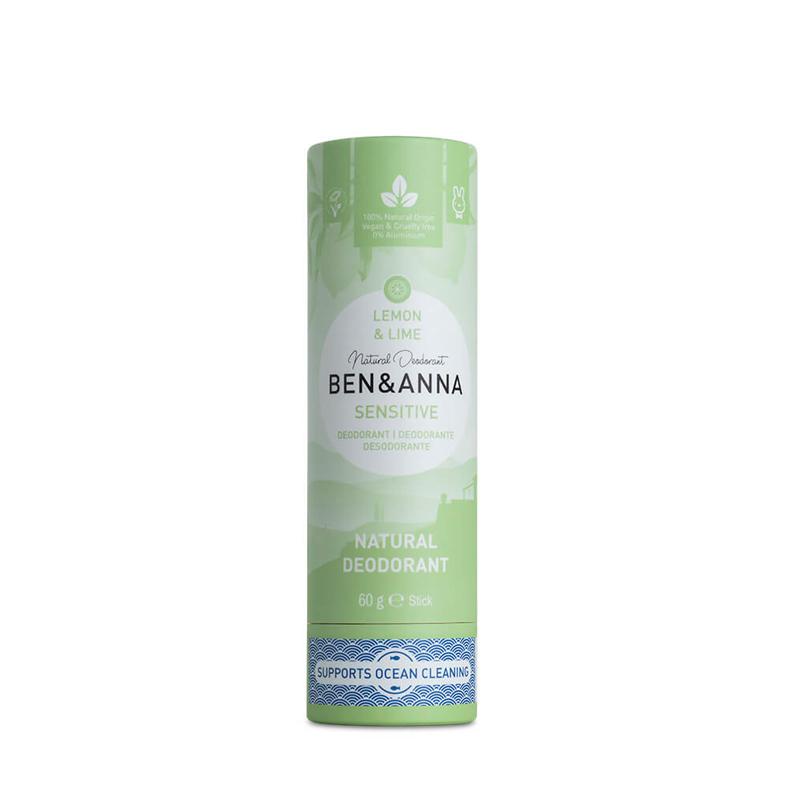 Desodorante natural SENSITIVE sin plástico aroma lima y limón