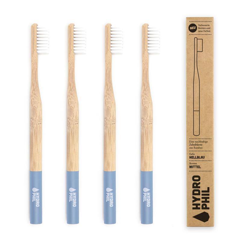 Cepillo de dientes de bambú AZUL