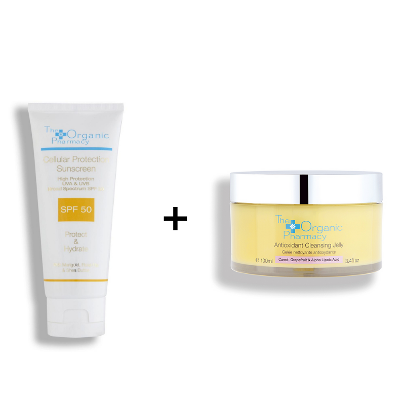 Protector Solar SPF50 + Antioxidant Cleansing Jelly